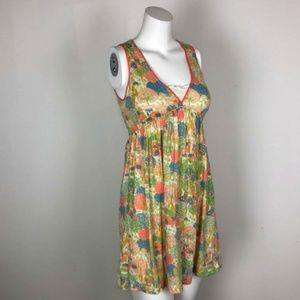 Lilka Tree House Floral Colorful Print Shift Dress